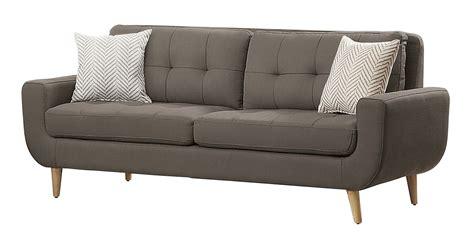 polyester sofa homelegance deryn sofa set polyester grey 8327gy sofa