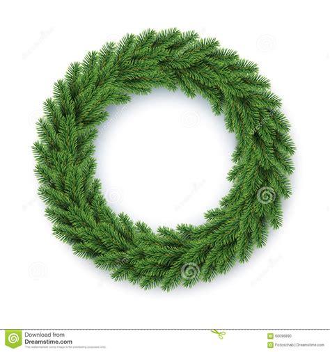 vector fir wreath stock vector image 60096890