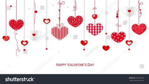 valentines day card design hearts vector stock vector happy valentines day card border design stock vector