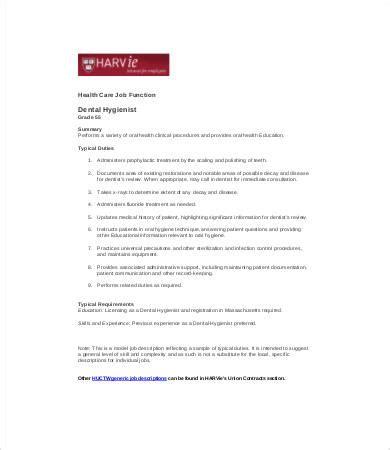 10 dentist description templates pdf doc free