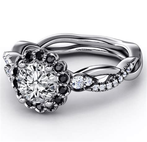 black engagement rings from mdc diamonds nyc