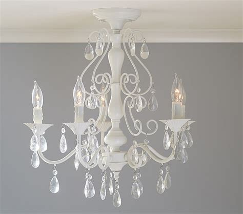 Children Chandelier Clear Alyssa Flushmount Chandelier Pottery Barn