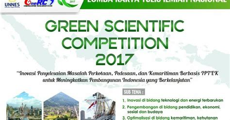 Green Mba 2017 by Lomba Karya Tulis Ilmiah Nasional Gsc 2017 Di Unnes
