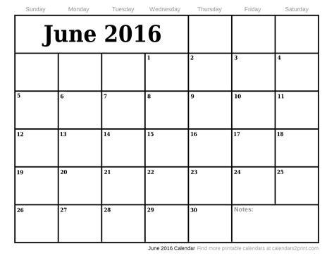 printable month calendar june 2016 june calendar 2016 editable large