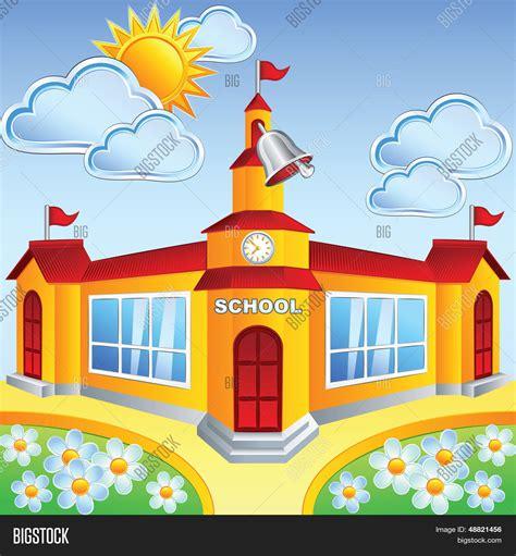 imagenes animadas de una escuela vector y foto edificio de escuela de dibujos bigstock