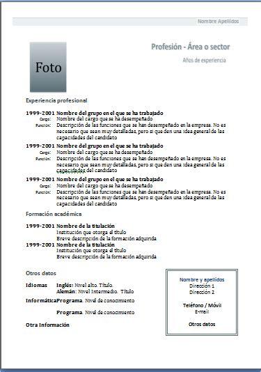 Plantilla De Curriculum Vitae Para Rellenar En Ingles tipos de curriculum vitae mamaquieroserbecario