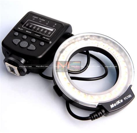 ring light flash canon led macro ring light fc100 meike