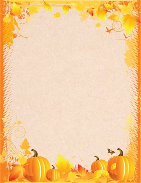 printable pumpkin stationery letterhead fall pumpkins halloween stationery geographics