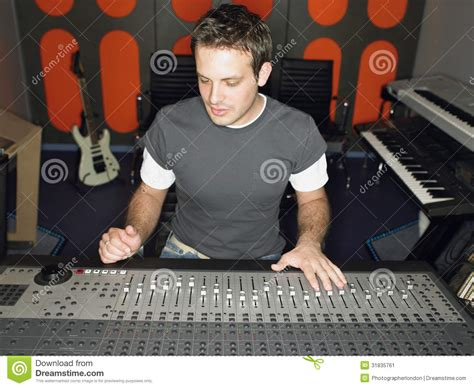 Studio Technician by Sound Technician In Recording Studio Stock Image Image 31835761