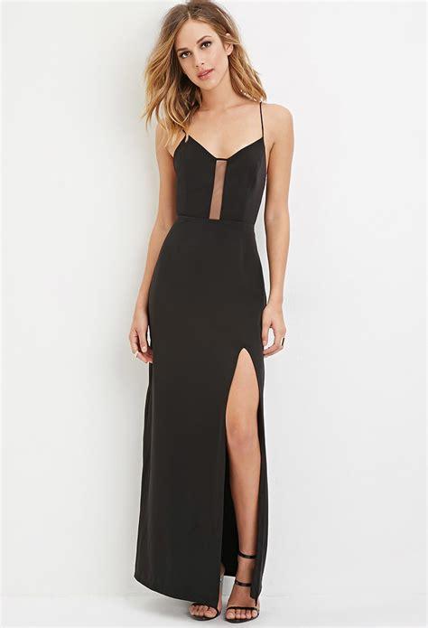 Dress Forever 21 forever 21 crisscross back maxi dress in black lyst