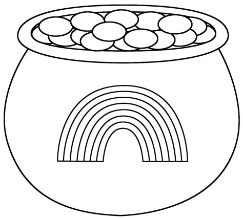 pot of gold coloring page rainbow with pot of gold coloring pages coloring home