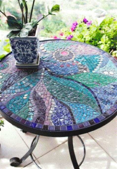 Mosaic Top Patio Table Top 10 Awesome Mosaic Projects For Your Garden Garden Pics And Tips