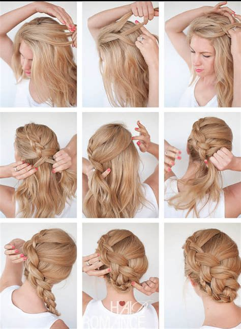 braids hairstyles how to do how to make twist braid updo hairstyle tutorial