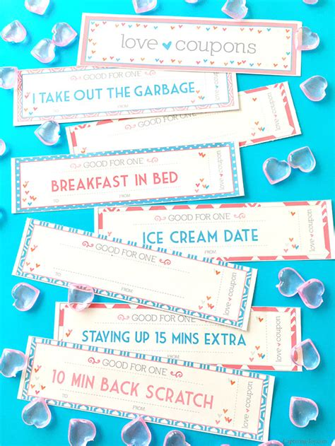 valentines coupons coupon book printable