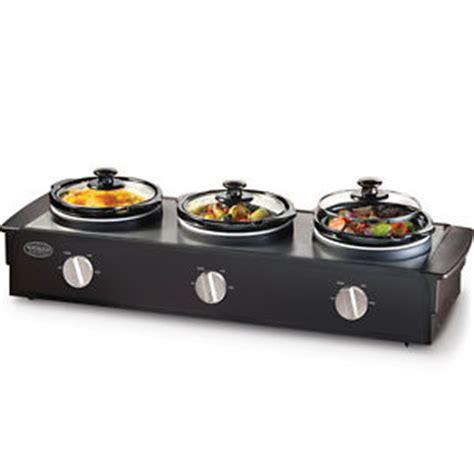 station home buffet server cooker food warmer 3 station buffet server serving tray tsc 250blk ebay