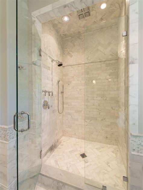 10 floor above herringbone tile shower floor and above for contrast