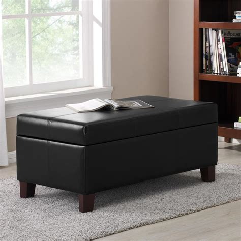 dorel living storage ottoman dorel living black rectangle storage ottoman fa3051b dke