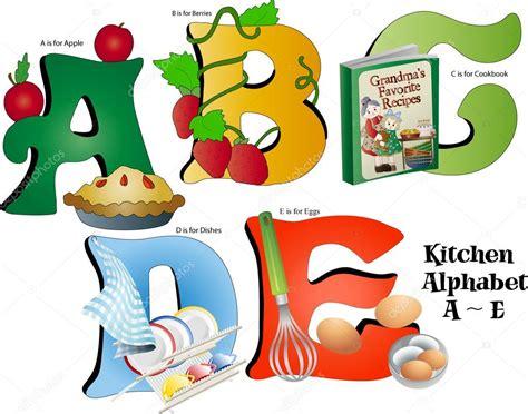 Alphabet Kitchen by Kitchen Alphabet A Thru E Stock Vector 169 Candywrap 12097383