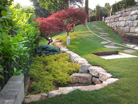 idee giardini esterni giardino in collina progettazione giardini