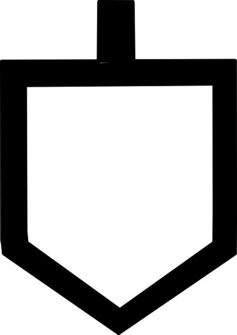 dreidel template bold dreidel shape clip at clker vector clip