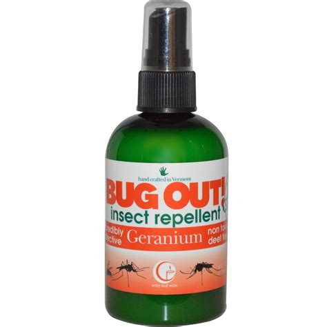 way out wax bug out insect repellent geranium 4 fl oz