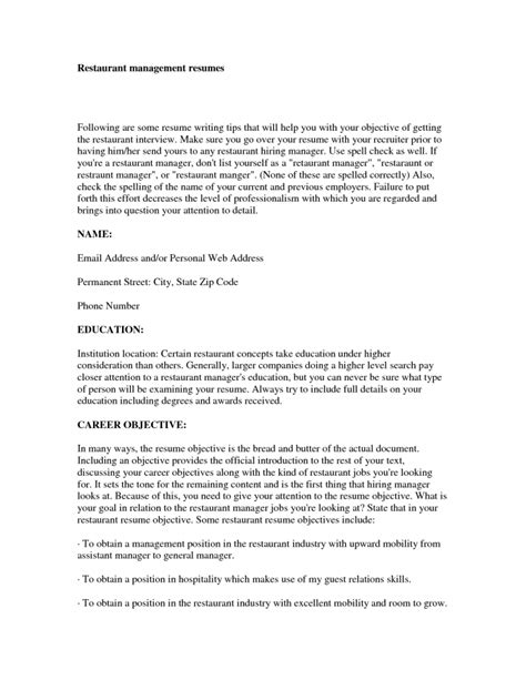 best resume for management position inspiredshares