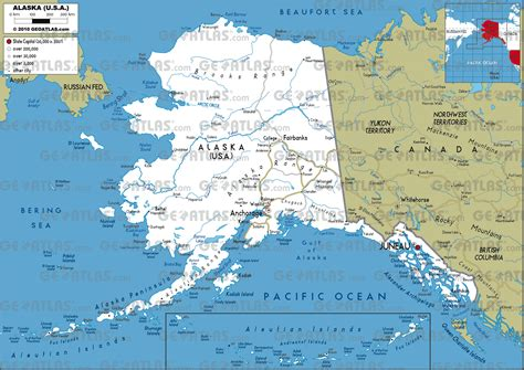 map of the united states with alaska geoatlas us states alaska map city illustrator fully