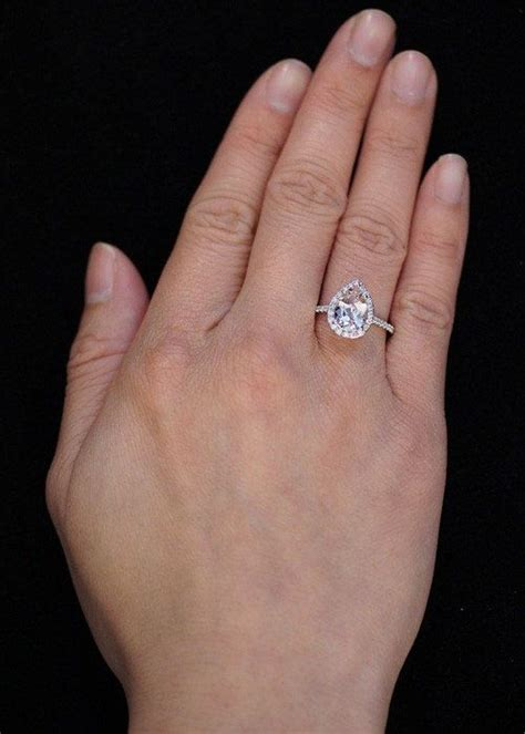 14k white gold pear cut shape halo morganite