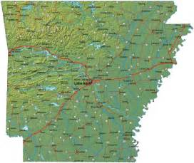 detailed arkansas map ar terrain map