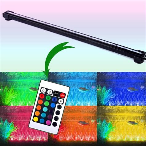 color changing led fish tank lights rgb remote color changing 18 led fish tank light