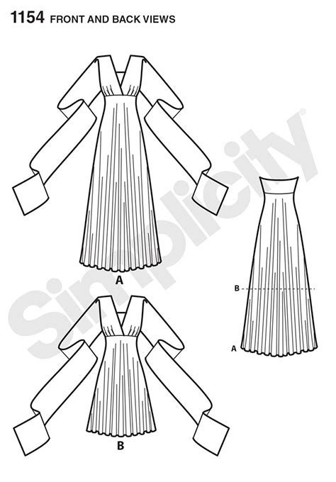 pattern review best patterns 2015 simplicity 1154 misses knit wrap and tie dress in two lengths