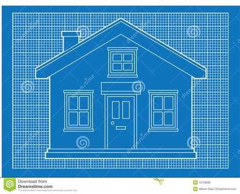 blue prints for a house simple house blueprints royalty free stock photo image
