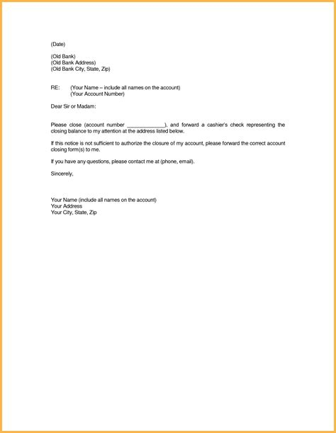 cancel bank account letter sle letter to bank account best of ideas collection