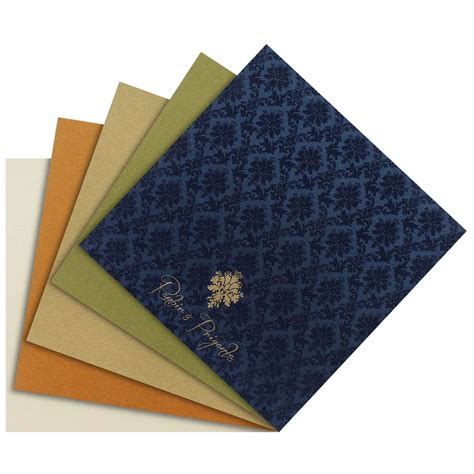 indian wedding cards printing singapore indian wedding card in royal blue and golden wedding invitations wedding cards