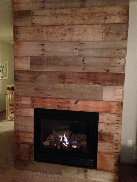 Reclaimed Fireplaces reclaimed barn wood fireplace makeover diy