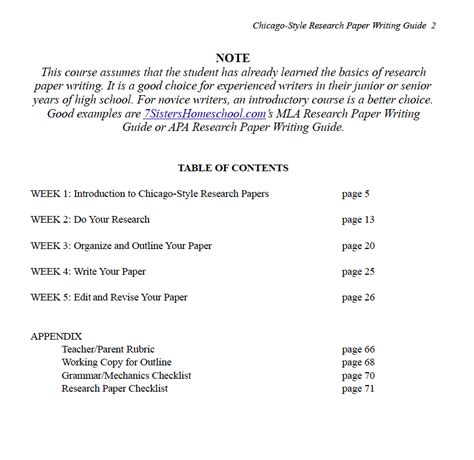 excerpts  chicago style research paper writing guide
