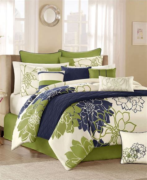 Green Comforter Sets by Black Sandals Macys Bed In A Bag