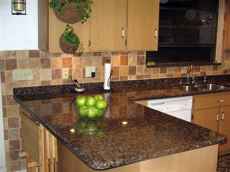 Brown Kitchen Countertops by Baltic Brown Granite Installed Design Photos And Reviews