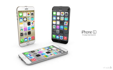 iphone l iphone 6 mit ios 8 konzept in keilform