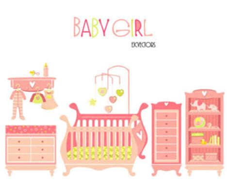 baby room clipart baby items clipart etsy