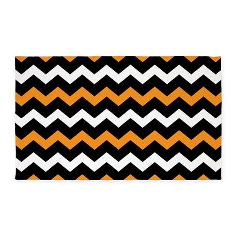 orange and black rugs black orange and white chevron 3 x5 area rug by beautifulbed