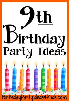 9 year old girl birthday party ideas netmumscom 9th birthday party ideas for nine year olds