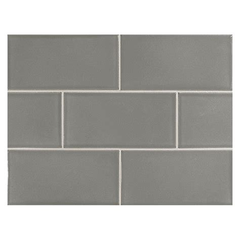 vermeere ceramic tile lt charcoal grey gloss 3 quot x 6 quot subway tile
