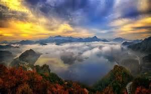 Landscape Photography Korea Nature Landscape Mountain Lake Sky Clouds