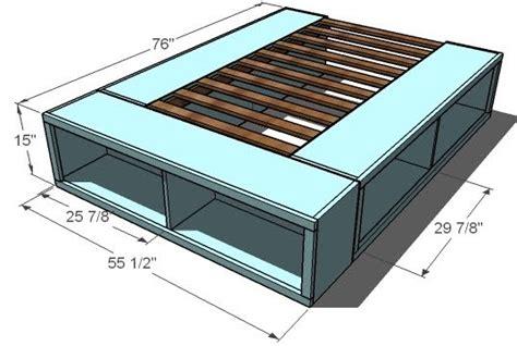 woodwork king platform bed plans  drawers  plans