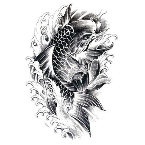 tattoo carpe koi noir et blanc koi carp temporary tattoos artwear tattoo