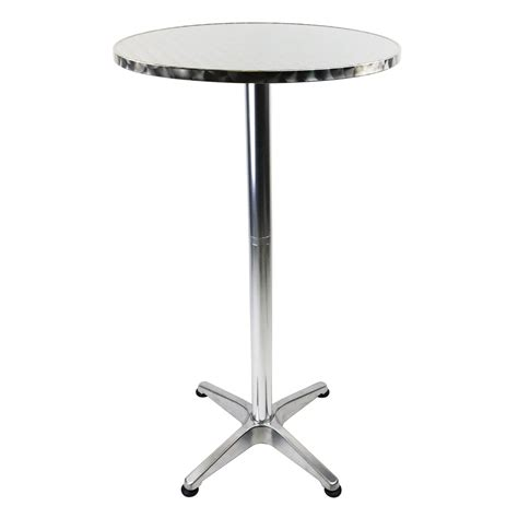 Aluminium Bistro Table 1 1m Aluminium Bistro Table Bar Pub Cafe Adjustable Height 163 38 99 Oypla The