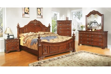 Bedroom Furniture Sets King Size Bedroom Sets Linden Place Cherry King Size Bedroom Set Newlotsfurniture