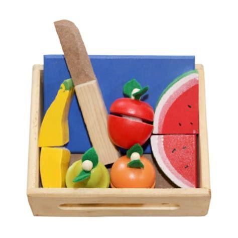 Mainan Kayu Potong jual istana bintang mainan kayu buah potong harga