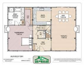 Small House Plans With Open Floor Plan Floor Plans For Small Houses The Amelia First Floor Plan